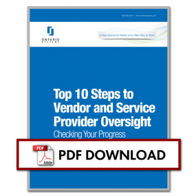 Top 10 Steps To Vendor And Service Provider Oversight