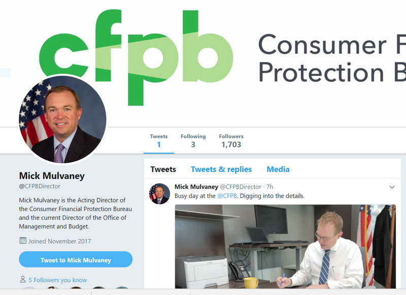 Mick Mulvaney Twitter Page