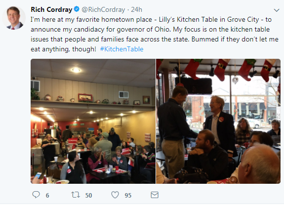 Cordray governor tweet 1