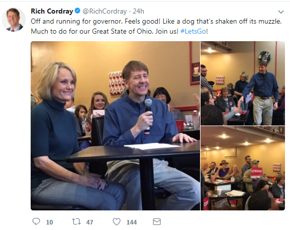 Cordray governor tweet 2
