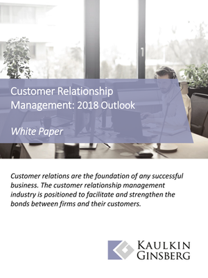 Customer Relationship Management: 2018 Outlook - Thumbnail