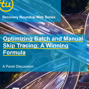 Optimizing Batch and Manual Skip Tracing TU Webinar Thumbnail