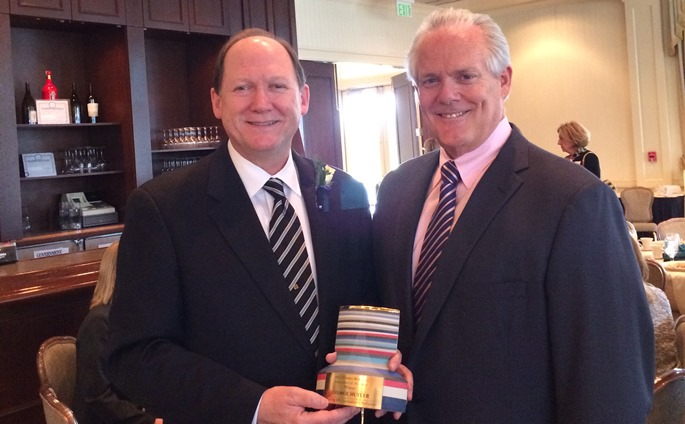 George Huyler (left) displaying his trophy with Mark Davitt, President of ConServe.