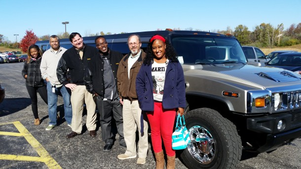 FAMS employees in Missouri show off their donor dog tags. (From left to right): Elissia Thomas, Michael Riley, James Windmann, Dave Marks, Jeff Mehrtens, Branyea Jones.  All are veterans.