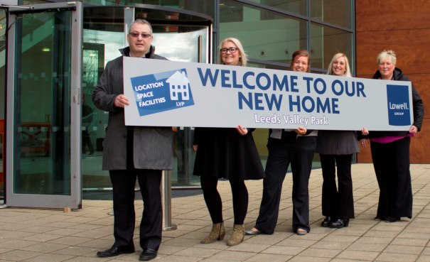 Lowell's move to new offices (from l to r): Nigel Beaven, Alison Shepherd, Kath O'Neill, Natalie Hartley, and Jayne Wild