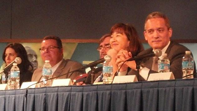 From left: Mary Colleen Beers, Fred Blitt, Alan Kaplinksy of Ballard Spahr, Laura Levine from Jump$tart Coalition, Tomio Narita