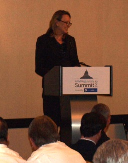Peggy Twohig addresses debt collection leaders at insideARM's ARM Regulatory Summit