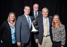 Tom Haag (second from right), with members of the Haag family, after winning the 2014 WI Family Business of the Year Award