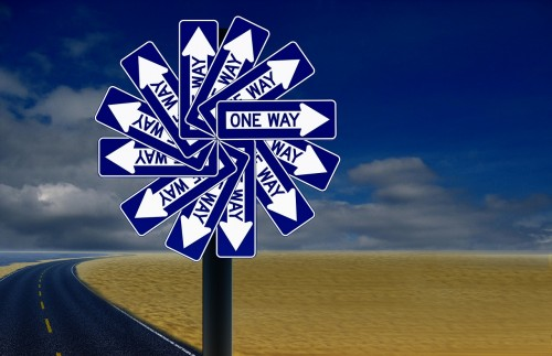 decisions, two way street, cuts both ways, one way