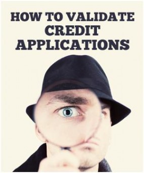 Article on simple, free methods for confirming the information on credit applications