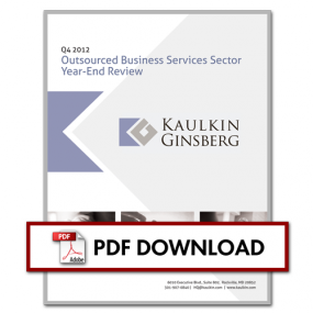 Outsourced Business Services Sector Year-End Review – 2012