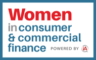Logo for Women in Consumer & Commercial Finance conference [Image by creator  from insideARM]