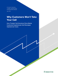Cover for the report titled: Why Customers Won't Take Your Call [Image by creator Neustar from insideARM]