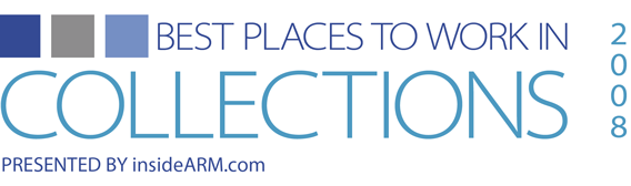 Best Places to Work in Collections 2008 Logo