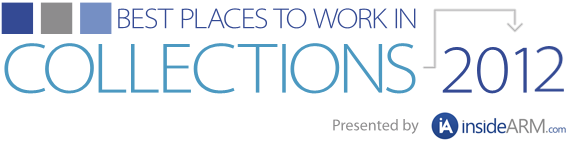 Best Places to Work in Collections 2012 Logo